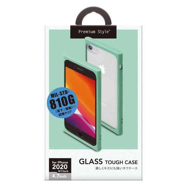 PGAiPhoneSE(第2世代)ガラスタフケースミントPG-20MGT04GR