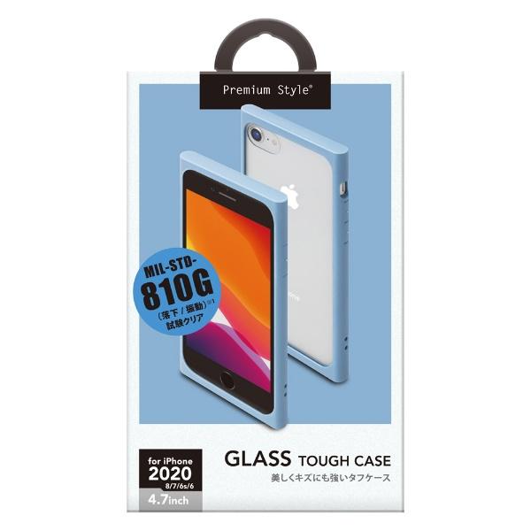 PGAiPhoneSE(第2世代)ガラスタフケースブルーPG-20MGT06BL