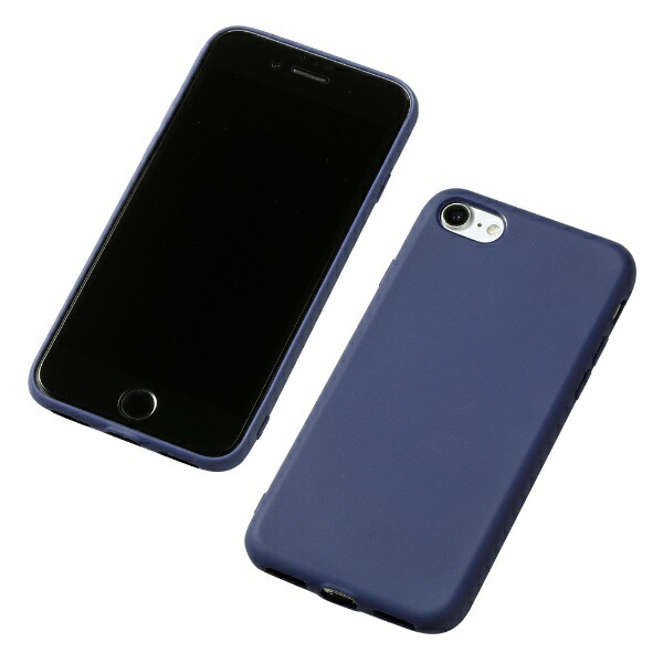 DEFFディーフiPhoneSE(第2世代)4.7インチ用シリコンハードケースCRYTONEネイビーDCS-IPS9NV