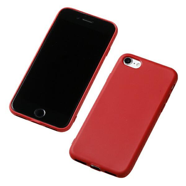 DEFFディーフiPhoneSE(第2世代)4.7インチ用シリコンハードケースCRYTONEレッドDCS-IPS9RD