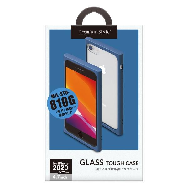 PGAiPhoneSE(第2世代)ガラスタフケースネイビーPG-20MGT07NV