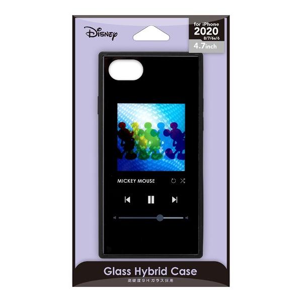 PGAiPhoneSE(第2世代)ガラスハイブリッドケースミッキーマウス/ブラックPG-DGT20M01MKY