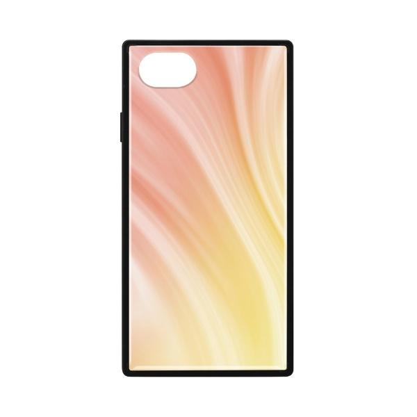 PGAiPhoneSE(第2世代)ガラスハイブリッドケースオレンジPG-20MGT14OR