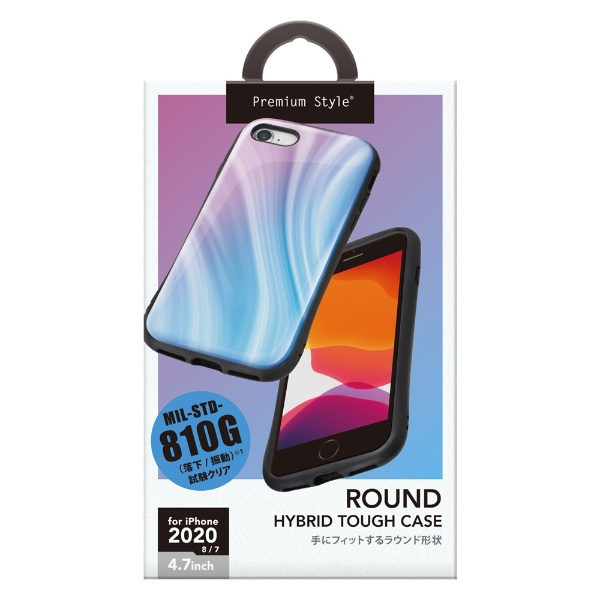 PGAiPhoneSE(第2世代)ハイブリッドタフケースパープルPG-20MPT03PP