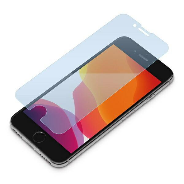 PGAiPhoneSE(第2世代)治具付き液晶保護フィルムブルーライト低減/光沢PG-20MBL01