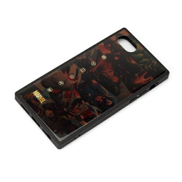 PGAiPhoneSE(第2世代)ガラスハイブリッドケースアベンジャーズ/ブラウンPG-DGT20M12AVG