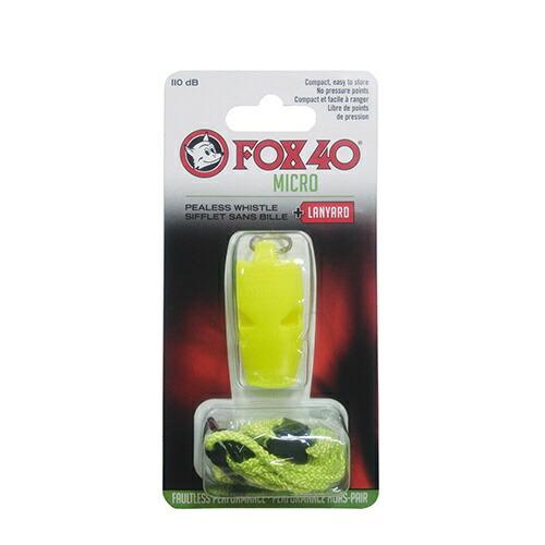 FOX40マイクロホイッスル(約54×26×12mm/イエロー)23254