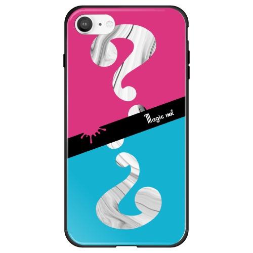 藤家FujiyaiPhoneSE(第2世代)/8/7マジックインキガラスハイブリッドE.ピンク&ブルーghp7170-bk-e-ipse2