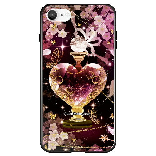 藤家FujiyaiPhoneSE(第2世代)/8/7幻想デザインガラスハイブリッドT.ピンクボトルghp7053-bk-t-ipse2