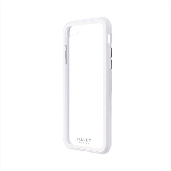 MSソリューションズiPhoneSE(第2世代)4.7インチガラスハイブリッド「PALLETGLASS」LP-I9PLGCWH2ホワイト