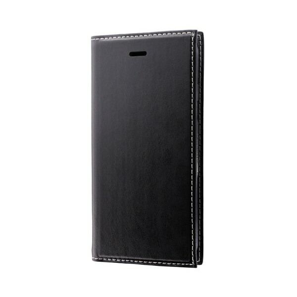 MSソリューションズiPhoneSE(第2世代)4.7インチ薄型PUレザーフラップケース「PRIME」LP-I9PRIBKブラック