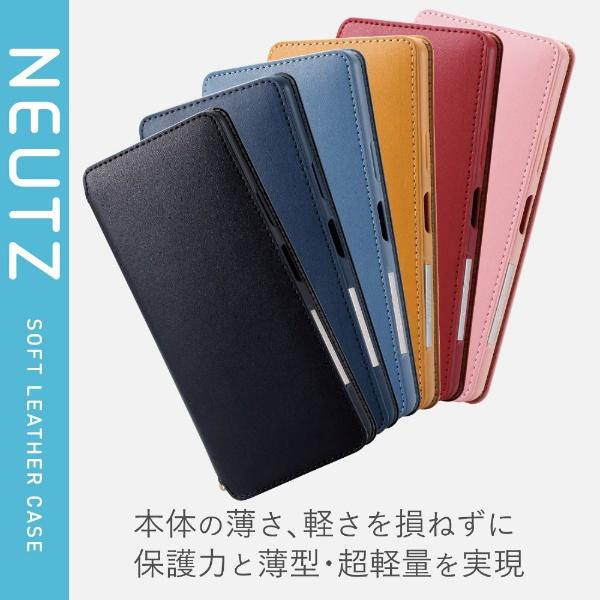 エレコムELECOMXperia10IIソフトレザーケース磁石付ブルーブルーPM-X202PLFY2BU