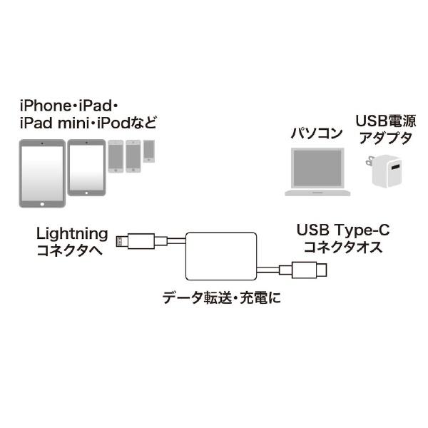 サンワサプライSANWASUPPLYライトニング-TypeC巻取りケーブル1mKB-IPLCM10W[約1m]