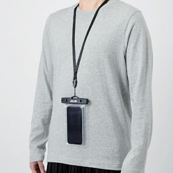エレコムELECOMスマートフォン用防水・防塵ケースプラスチック蓋ポケット付SサイズブラックPCWPSK01BK