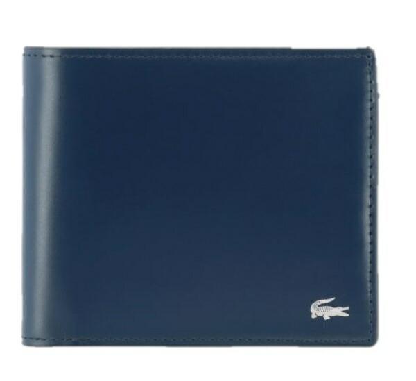 ラコステLACOSTE二つ折り財布MensPremium2(約W11.5×H10×D2cm/ピーコート)NH0111K