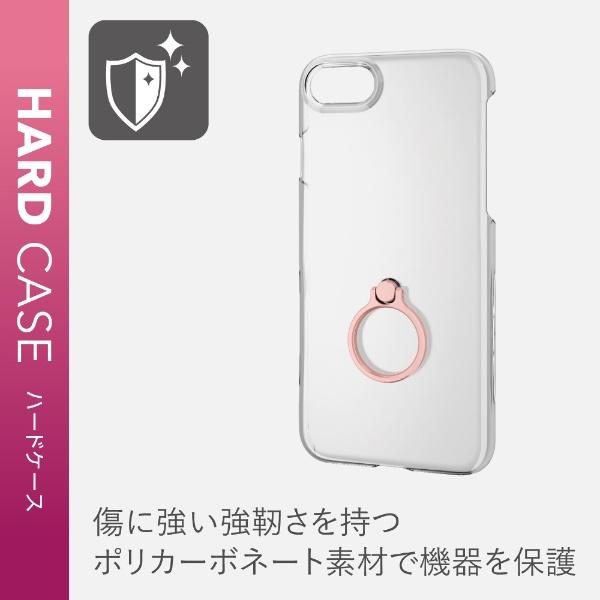 エレコムELECOMiPhoneSE(第2世代)4.7インチ対応ハードケースリング付ピンクPM-A19APVRPN