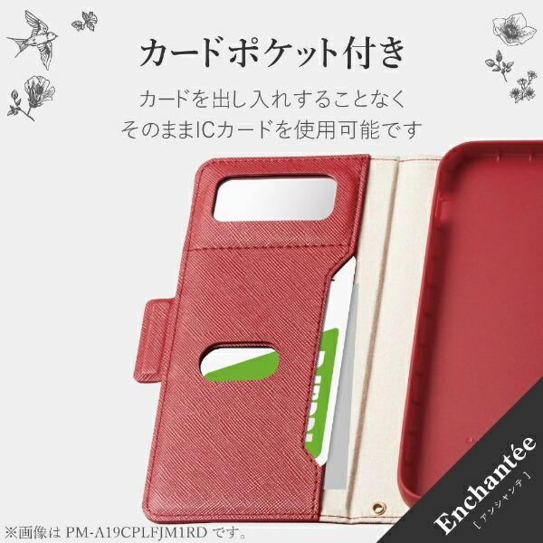 エレコムELECOMiPhoneSE(第2世代)4.7インチ対応ソフトレザーケース女子向磁石付レッドPM-A19APLFJM1RD