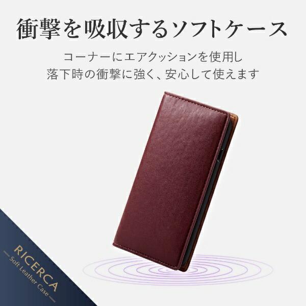 エレコムELECOMiPhoneSE(第2世代)4.7インチ対応ソフトレザーケースイタリアン(Coronet)マッローネPM-A19APLFYILBR