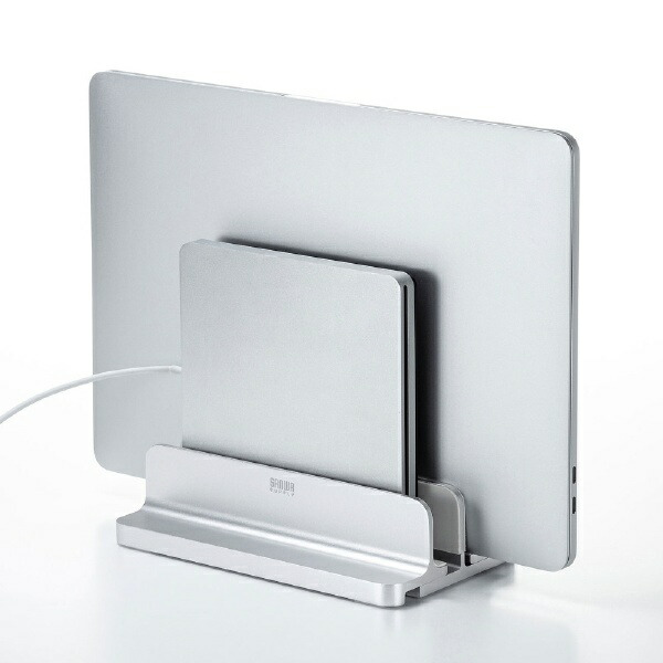 サンワサプライSANWASUPPLYノートパソコンスタンド[厚み〜30mm]アルミ2台収納・縦置きタイプPDA-STN36S