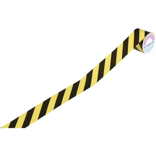 日本緑十字JAPANGREENCROSS緑十字トラ柄テープ黄/黒45mm幅×10mビニール製屋内用256206