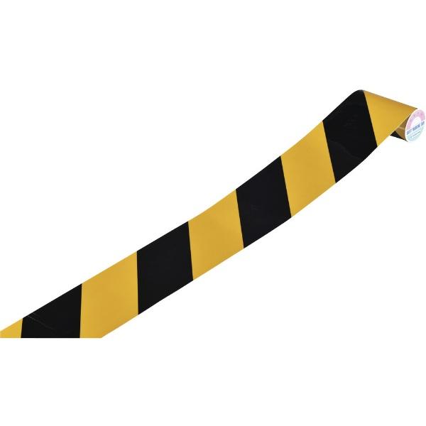 日本緑十字JAPANGREENCROSS緑十字トラ柄テープ(反射タイプ)黄/黒75mm幅×1m屋内用256303