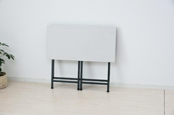 ヤマゼンYAMAZEN折りたたみデスク(W800xD400mm)ホワイト/マットグレーPST-8040