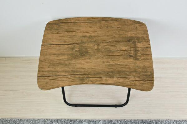 ヤマゼンYAMAZEN折りたたみデスク(W700xD500mm)アンティークブラウン/ブラックDRK-5070