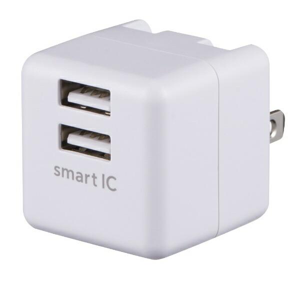 グリーンハウスGREENHOUSEAC-USBアダプタ2.4AhホワイトGH-ACU2F-WH[2ポート/SmartIC対応]
