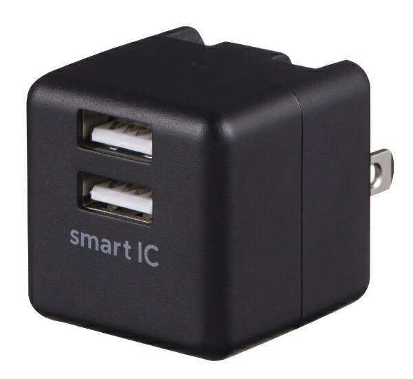 グリーンハウスGREENHOUSEAC-USBアダプタ2.4AhブラックGH-ACU2F-BK[2ポート/SmartIC対応]