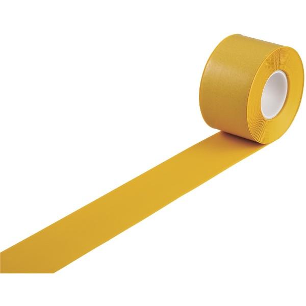 日本緑十字JAPANGREENCROSS緑十字高耐久ラインテープ黄100mm幅×10m両端テーパー構造屋内用403083