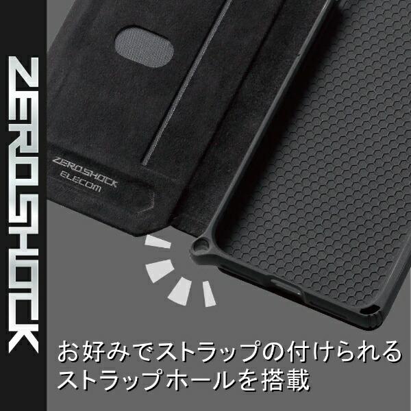 エレコムELECOMiPhoneSE(第2世代)4.7インチ対応ZEROSHOCKフラップカモフラ(ブラック)PM-A19AZEROFT1