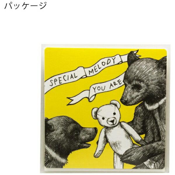 山桜YAMAZAKURAD[di:]cashico正方形カード・タトウ熊白351406