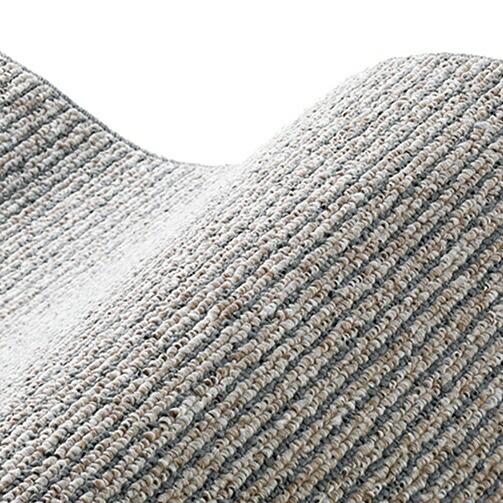 スミノエSUMINOEラグカルル(185×185cm/軽量/ウォッシャブル/床暖対応/グレー)【日本製】