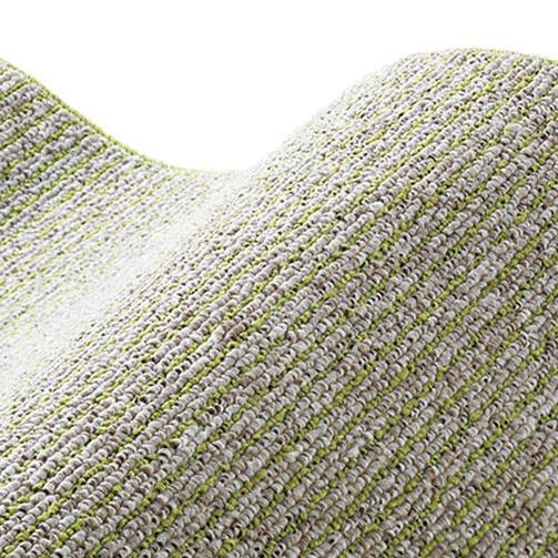 スミノエSUMINOEラグカルル(185×185cm/軽量/ウォッシャブル/床暖対応/オリーブ)【日本製】