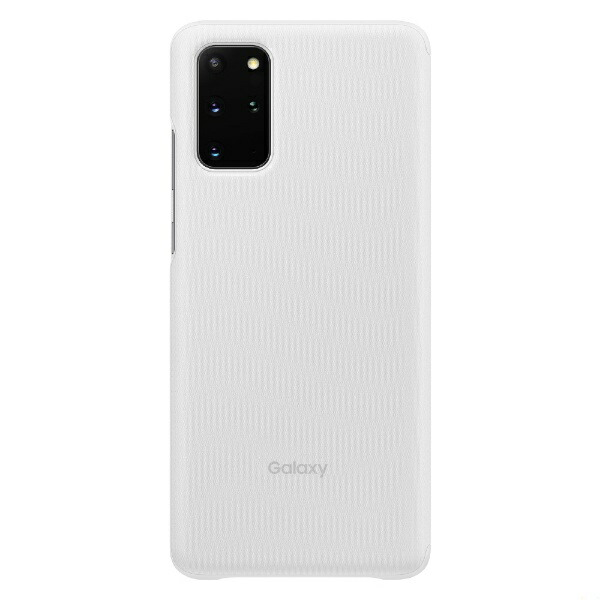SAMSUNGサムスン【サムスン純正】GalaxyS20+CLEARVIEWCOVERホワイトEF-ZG985CWEGJP