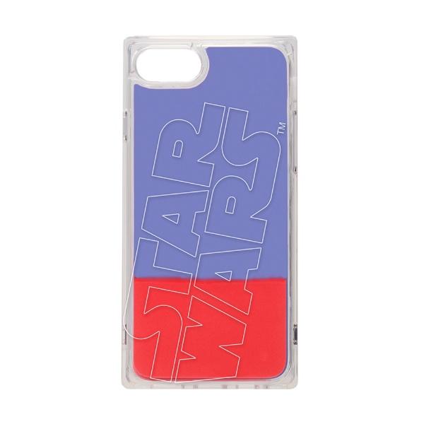 PGAiPhoneSE(第2世代)/8/7/6s/6用ネオンサンドケースロゴ/ブルー&レッドPG-DLQ20M14SW
