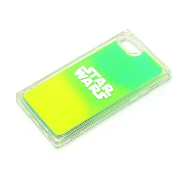 PGAiPhoneSE(第2世代)/8/7/6s/6用ネオンサンドケースロゴ/グリーン&イエローPG-DLQ20M15SW