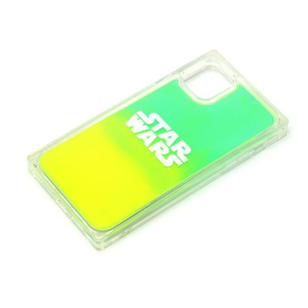 PGAiPhone11用ネオンサンドケースロゴ/グリーン&イエローPremiumStyleロゴ/グリーン&イエローPG-DLQ19B15SW
