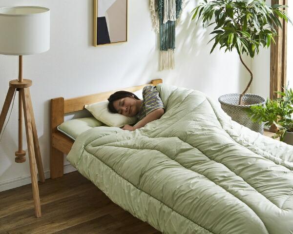 イケヒコIKEHIKO森の眠り掛布団ダブルサイズ(グリーン)