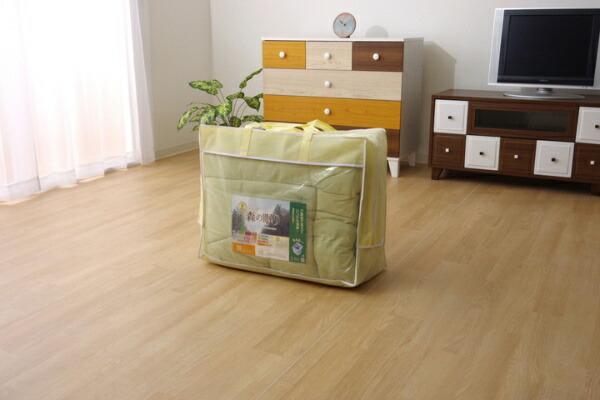 イケヒコIKEHIKO森の眠り掛布団セミダブルサイズ(グリーン)