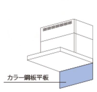 AIRPROエアプロ【要見積り】カラー鋼板平板富士工業CK-75-3SV