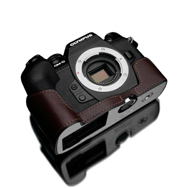 GARIZゲリズOLYMPUSOM-DE-M1MarkIII用本革カメラケースブラウンXS-EM1IIIBR