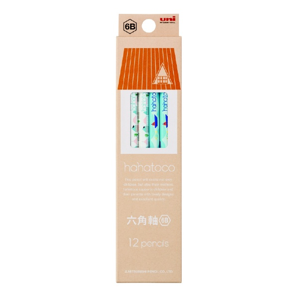 三菱鉛筆MITSUBISHIPENCIL鉛筆56136角HT01橙6B