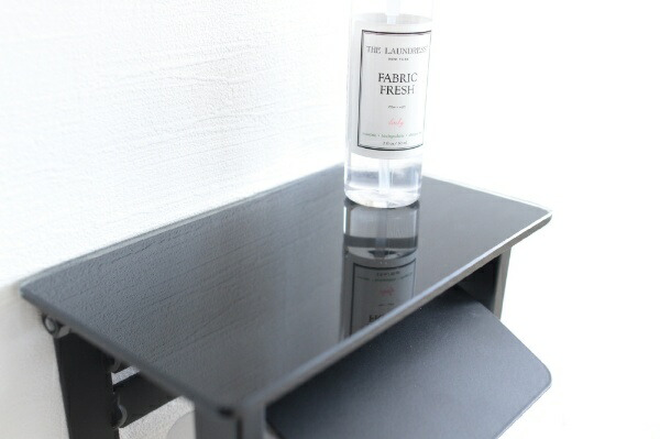 ヤマソロYAMASOROLasnガラストイレットペーパーホルダー1連LasnBK41-040