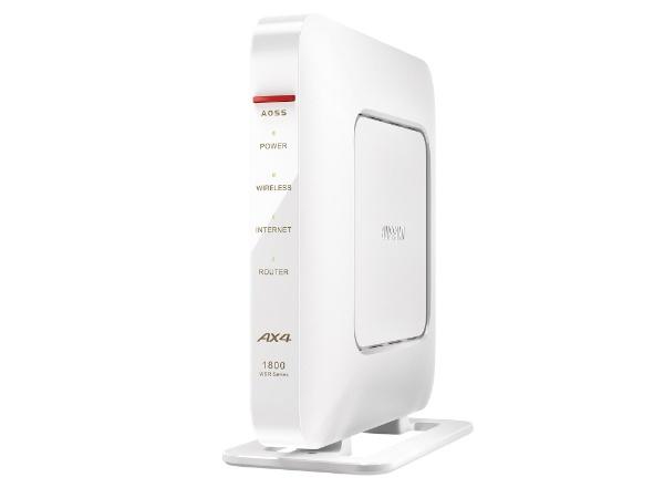 BUFFALOバッファローWSR-1800AX4-WH無線LAN親機wifi6ルーター1201+573MbpsIPv6対応ホワイト[Wi-Fi6(ax)/ac/n/a/g/b][無線LANルーター]