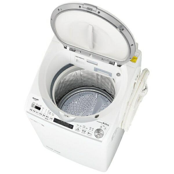 シャープSHARP縦型洗濯乾燥機ホワイト系ES-TX8E-W[洗濯8.0kg/乾燥4.5kg/ヒーター乾燥(排気タイプ)/上開き]
