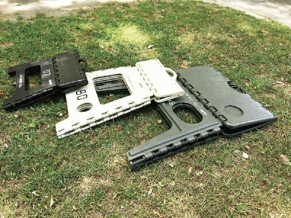 SLOWER折りたたみ式フォールディングスツールLesmoFOLDINGSTOOL(390x400x330mm/オリーブ)SLW-126