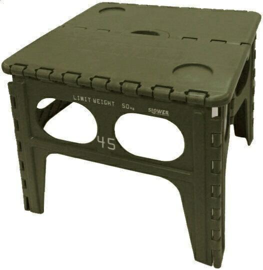 SLOWER折りたたみ式フォールディングテーブルChepelFOLDINGTABLE(480x400x490mm/オリーブ)SLW-127