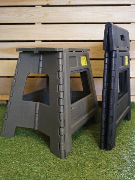 SLOWER高強度フォールディングスツールCasinoFOLDINGSTOOL(390x400x320mm/オリーブ)SLW-177
