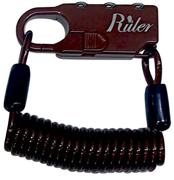 RULERルーラーRulerミニロック(60mm×23mm×9.5mm/ブラウン)MC-2013U